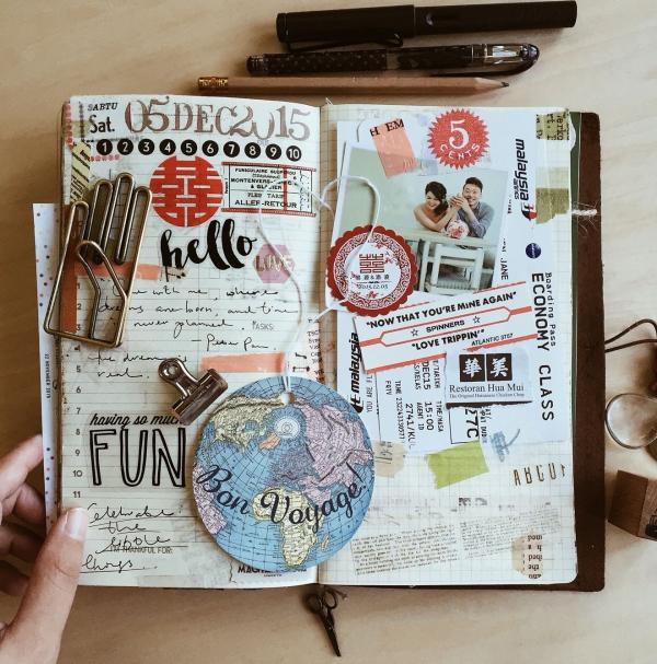 comment faire un carnet de voyage des objets insolites