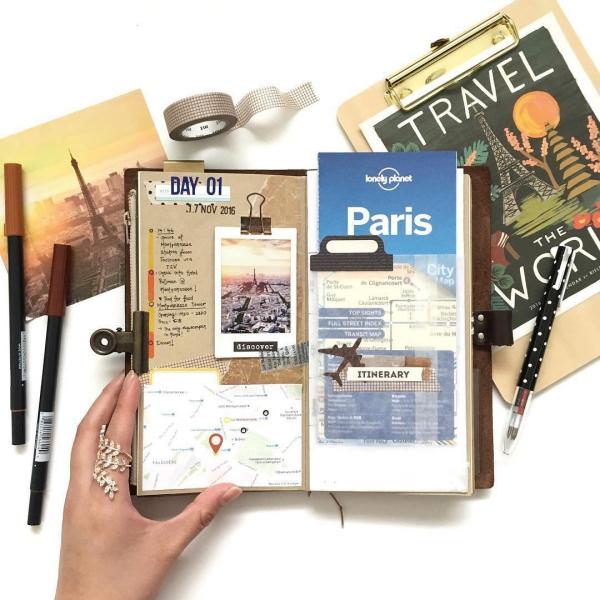 comment faire un carnet de voyage des poches pour les cartes