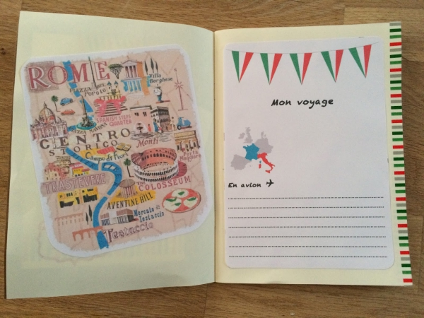 comment faire un carnet de voyage le début est à Rome