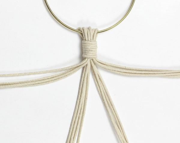 comment faire une suspension macramé noeud coulissant