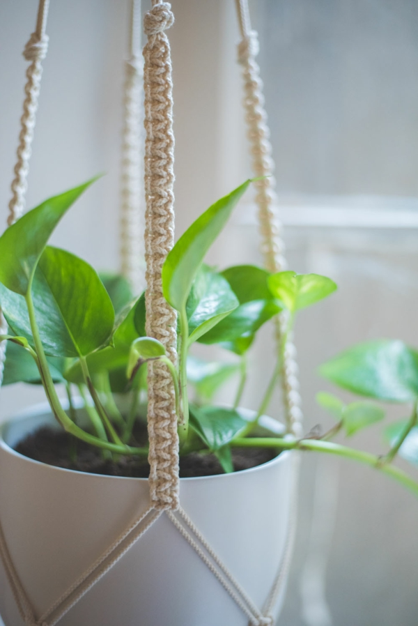 comment réaliser une diy suspension macramé