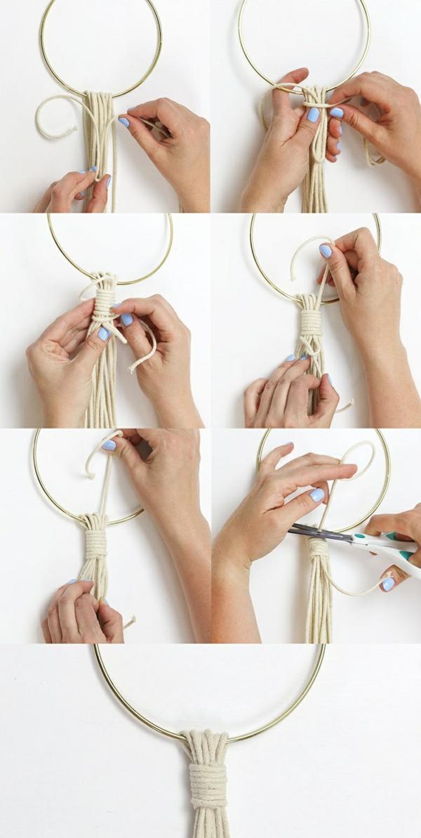débuter au crochet suspension macramé