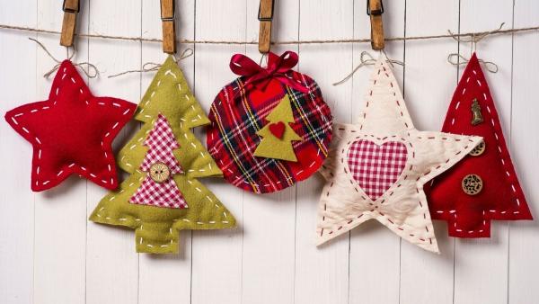 déco Noël à fabriquer en tissu jolie guirlande