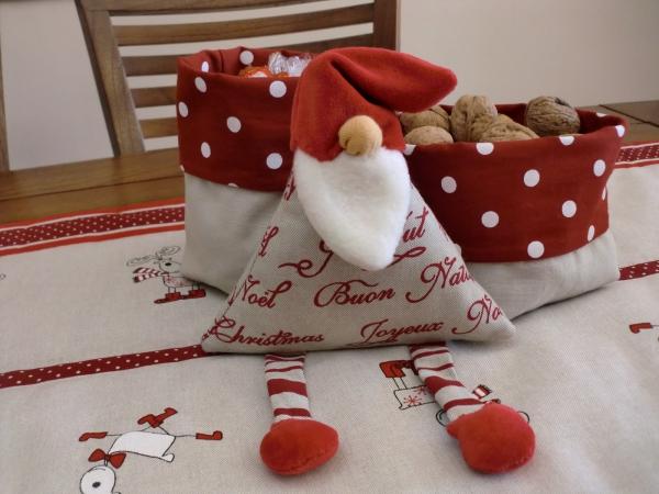déco Noël à fabriquer en tissu sacs en tissu