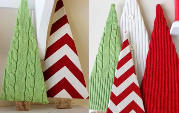 déco Noël à fabriquer en tissu un bois de sapins