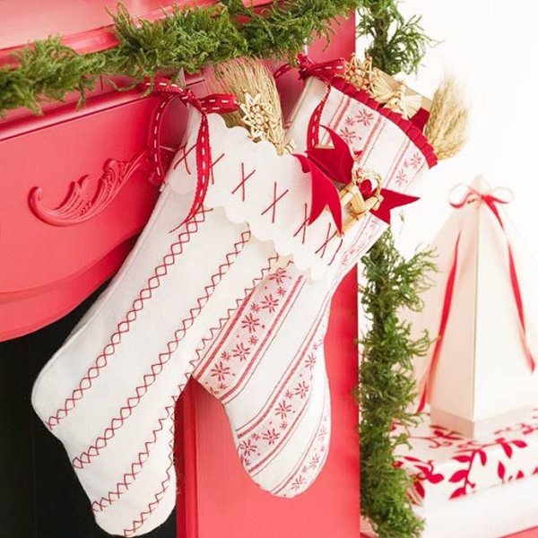 déco Noël à fabriquer en tissu une cheminée décorée