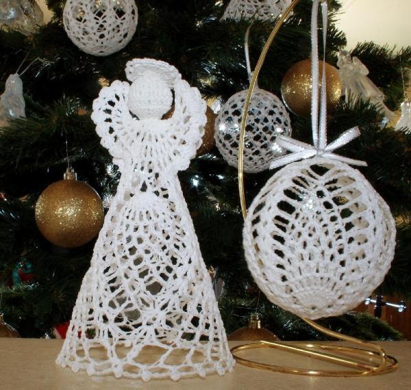 déco Noël au crochet ange-gardien