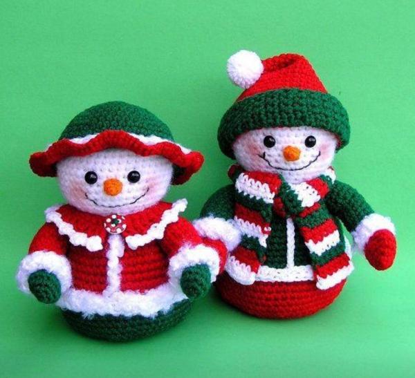 déco Noël au crochet jolies frimousses