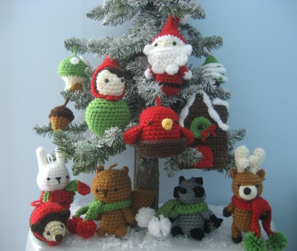 déco Noël au crochet toute la forêt