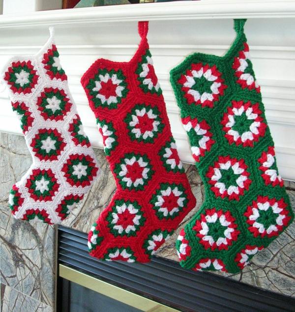 déco Noël au crochet une cheminée décorée