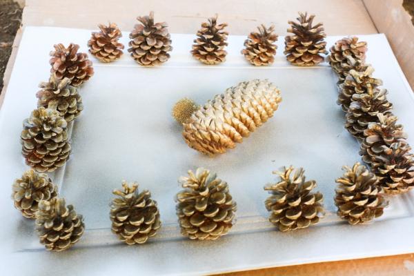 déco Noël pomme de pin préparés à la déco