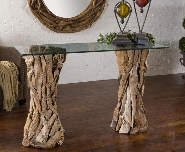 déco bois flotté cadre de miroir