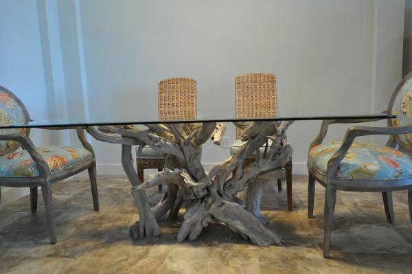 déco bois flotté grande table