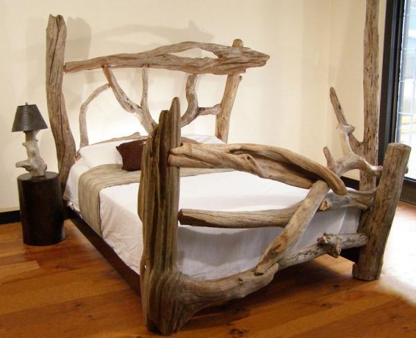 déco bois flotté lit comme dans un conte