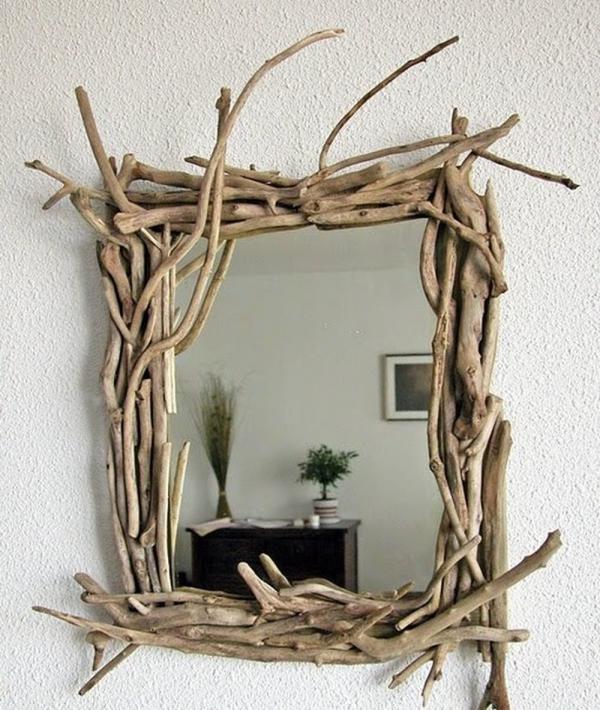 déco bois flotté miroir convenable pour une chambre