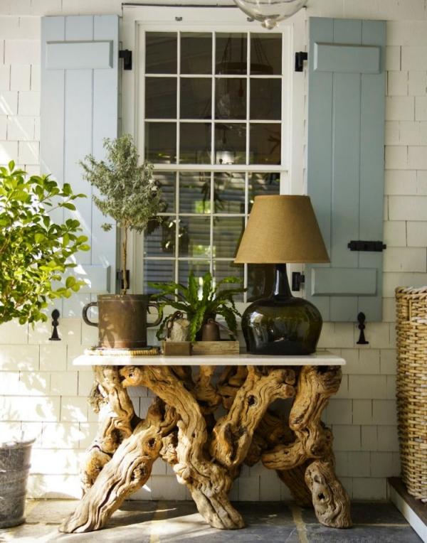 déco bois flotté table pour la terrasse