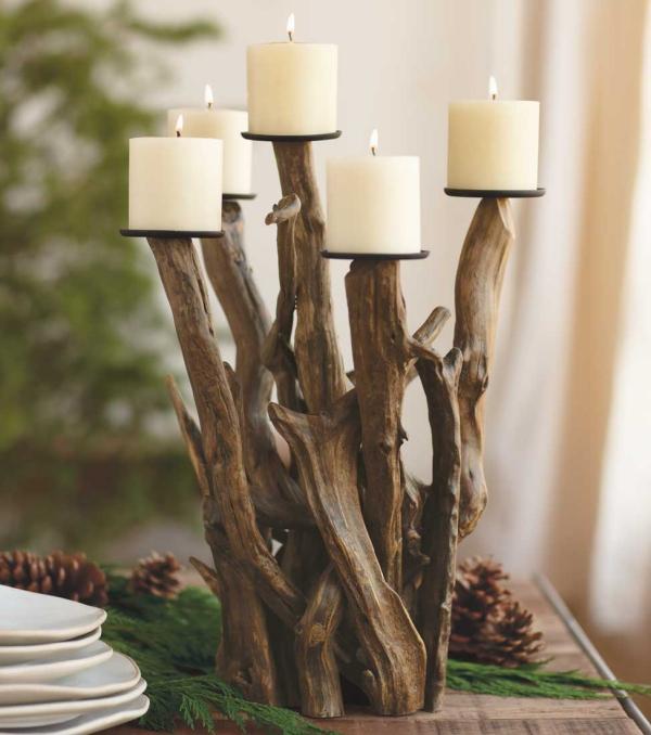 déco bois flotté une table de Noël