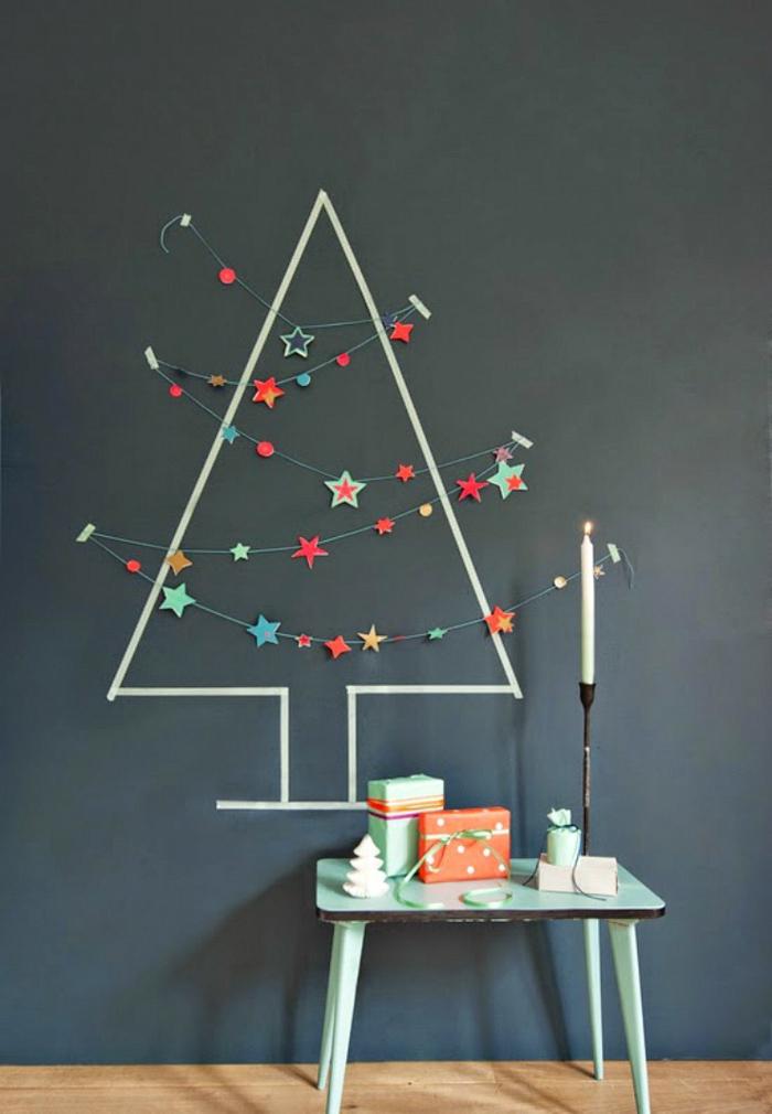 déco maison festive idée sapin de noël artificiel