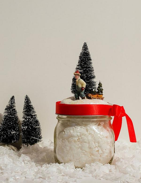 d co pot en verre pour no l cr er un conte de neige dans. Black Bedroom Furniture Sets. Home Design Ideas