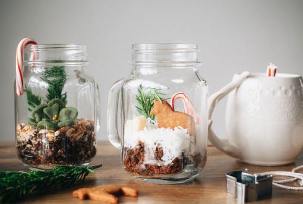 déco pot en verre terrarium de pain d'épice