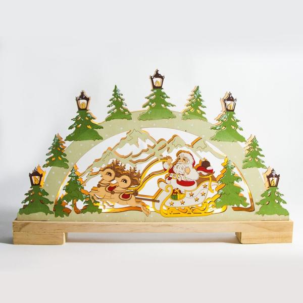 décoration Noël à fabriquer en bois belle déco dessinée