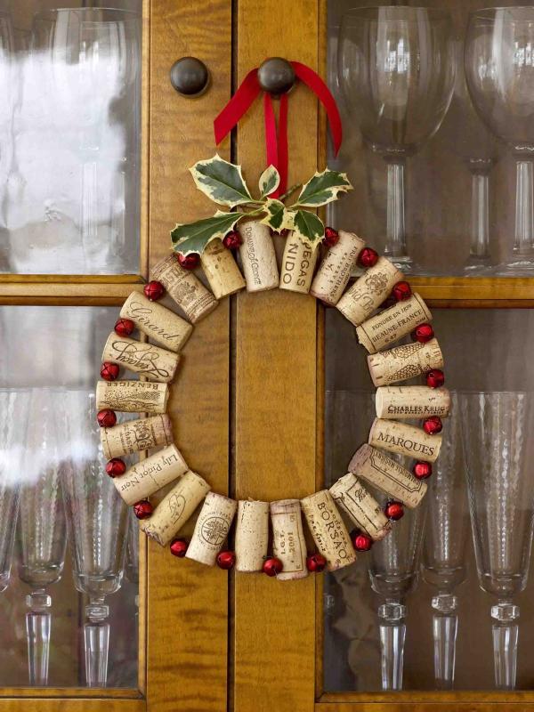 décoration Noël à fabriquer en bois bouchons de liège