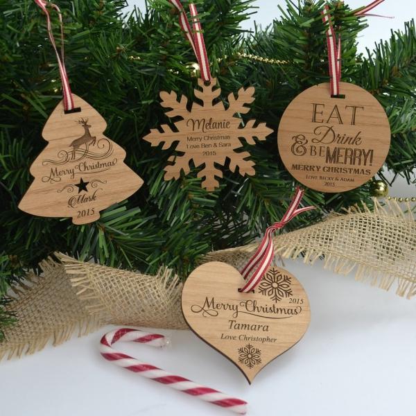 décoration Noël à fabriquer en bois des médaillons d'amour