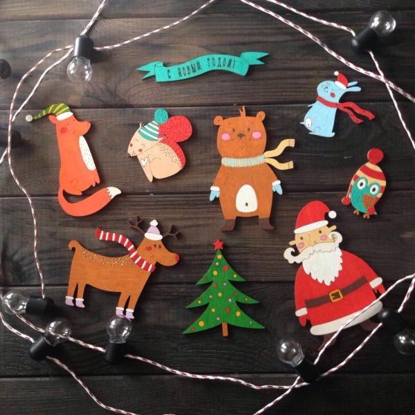 décoration Noël à fabriquer en bois figures symboliques