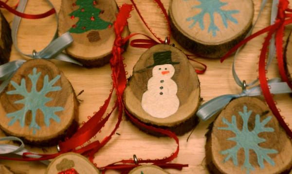 décoration Noël à fabriquer en bois médaillons en bois