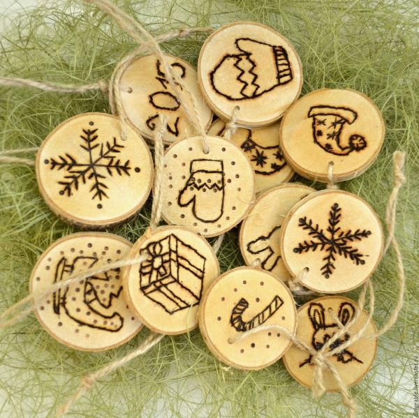 décoration Noël à fabriquer en bois rondelles en bois