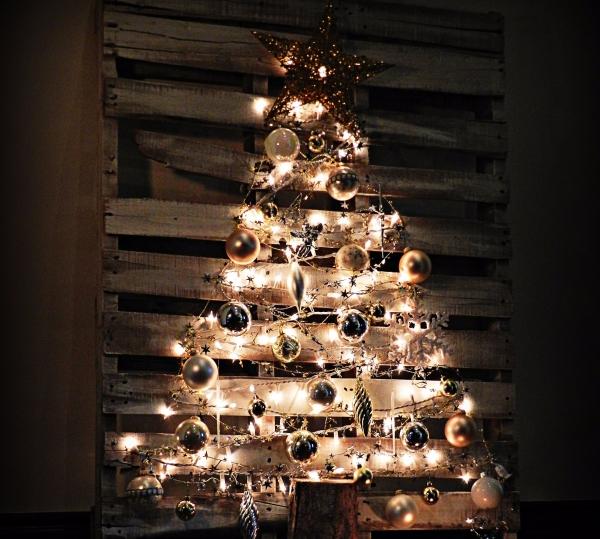 décoration Noël à fabriquer en bois sapin sur palette
