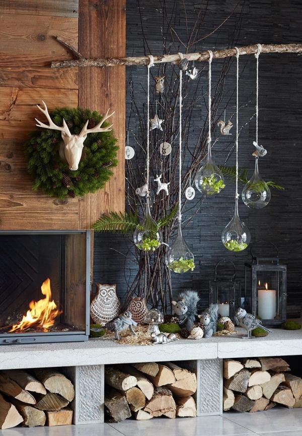 décoration Noël à fabriquer en bois un coin forestier