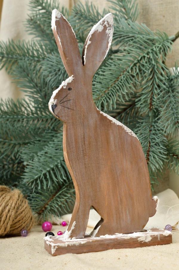 décoration Noël à fabriquer en bois une bête sympa