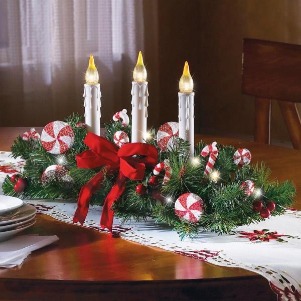 décoration Noël table décorée