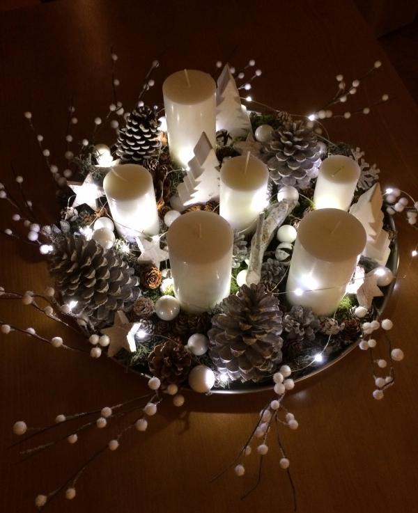 décoration Noël un plateau décoré