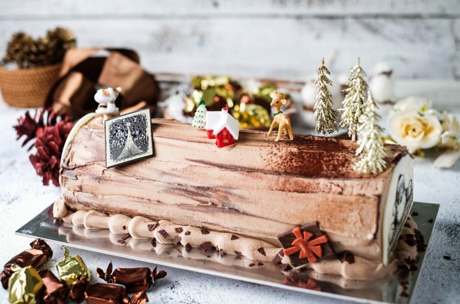 Décoration bûche de Noël : 50+ idées pour la star des tables festives