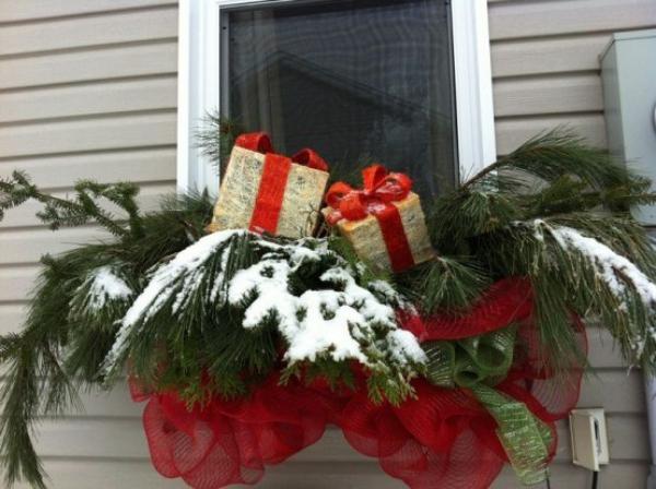 décoration de Noël fenêtre première neige