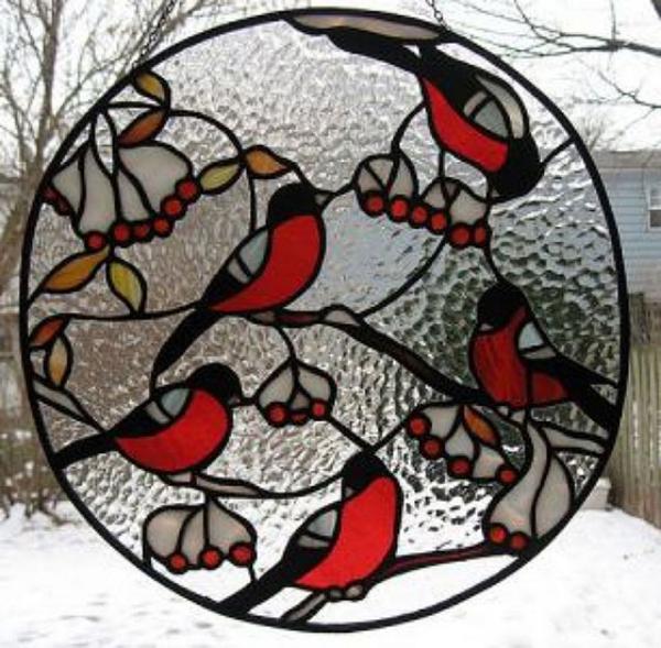 décoration de Noël fenêtre un cercle dessiné