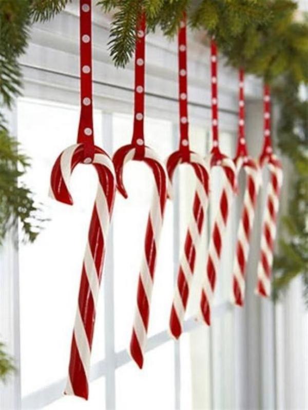 décoration de Noël fenêtre une déco sucrée