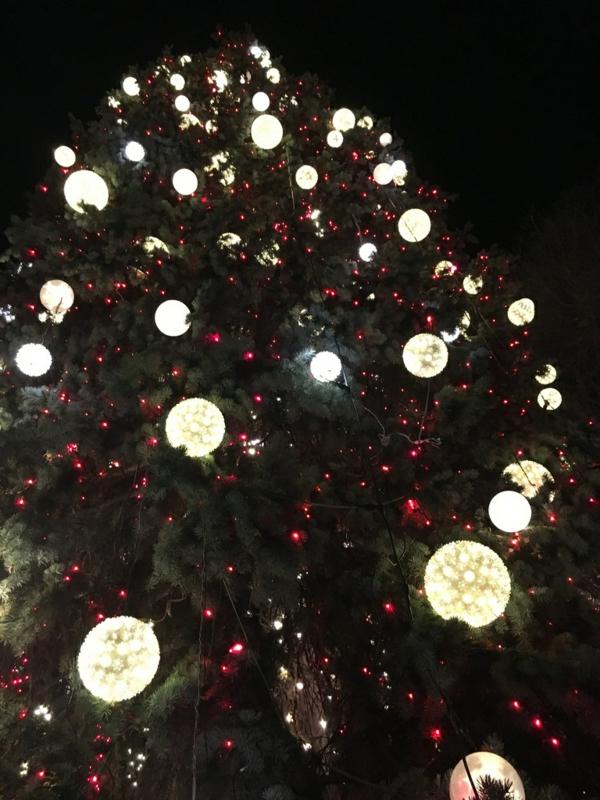 décoration de noël extérieur boules lumineuses