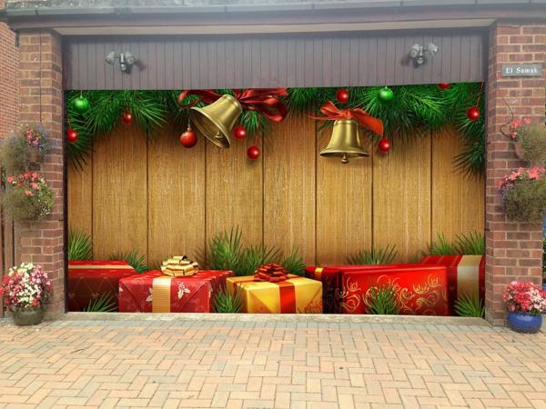 décoration de noël extérieur déco porte de garage