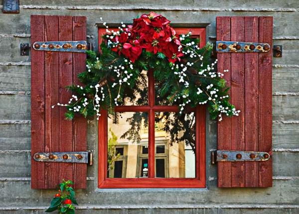 décoration de noël extérieur fenêtre