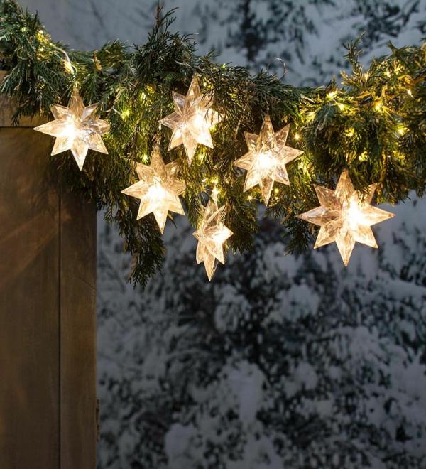 décoration de noël extérieur flocons de neige lumineux