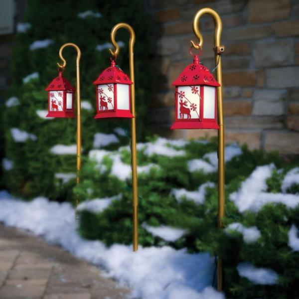 décoration de noël extérieur lanternes suspendues