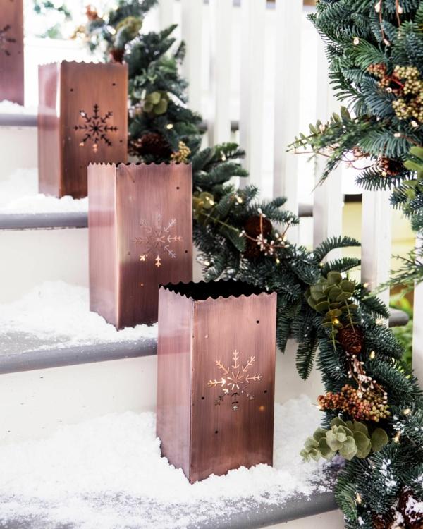 décoration de noël extérieur luminaires rustiques en métal