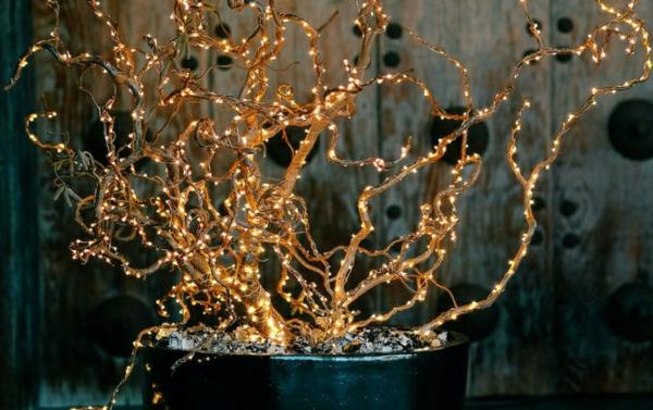 décoration de noël extérieur plante lumineuse