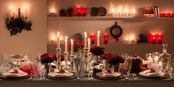 décoration de table Noël cristal et porcelaine