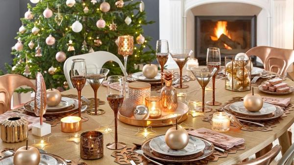 décoration de table Noël style de luxe