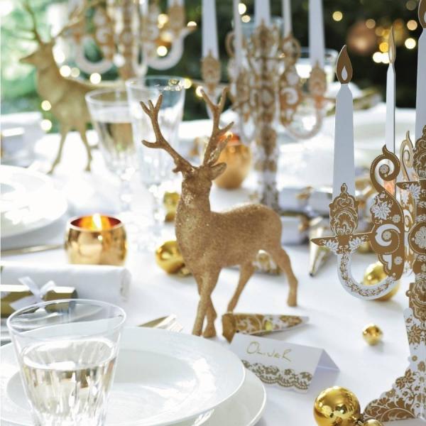 décoration de table Noël table symbolique