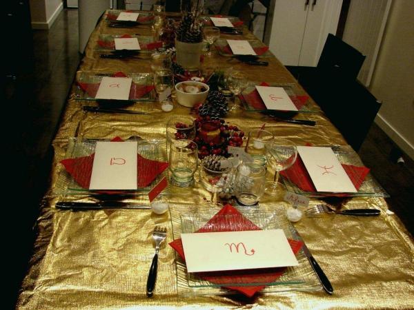 décoration de table Noël une longue table